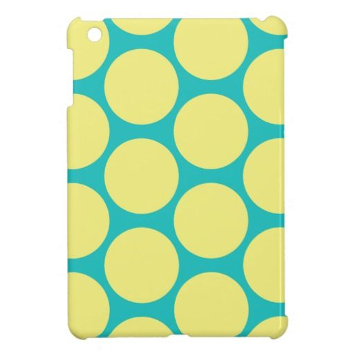 Poker Dot iPad Mini Case Teal and Yellow