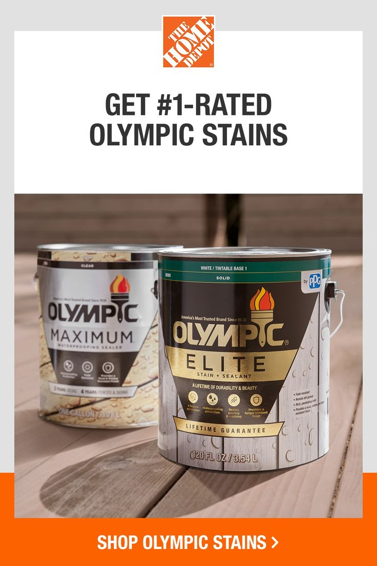 Get 1rated olympic stains at the home depot in 2020