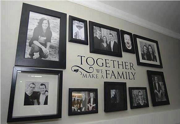 Together We Make A Family --- Vinyl Wall Cling- staircase