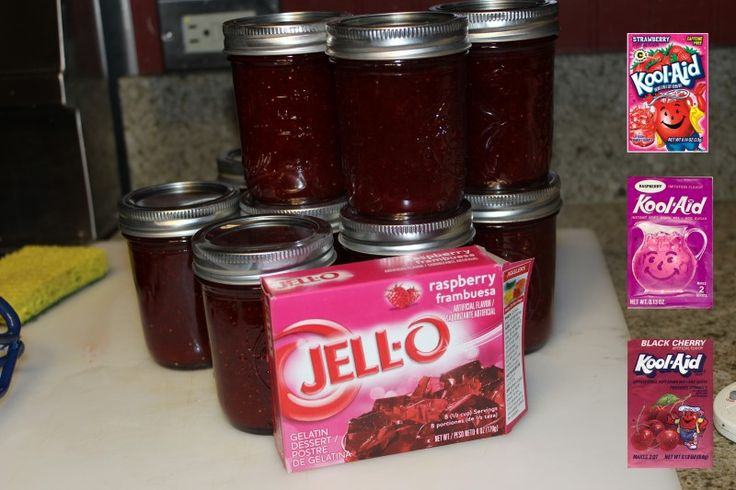 Figs jams can be made with virtually any Kool Aid flavors - the original six flavors wereStrawberry,Raspberry,Orange,Lemon-Lime,Grape, andCherry, Although not all are a perfect choice, many are suitable to flavor figs including Black Cherry,To reduce the amount of sugar and sweetness, Kool-Aid flavors can be used instead of Jello.