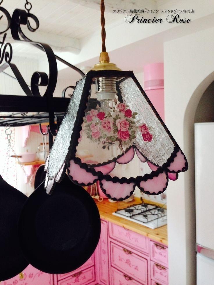 Handmade lamp   rose