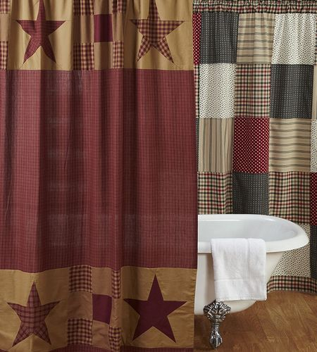 Best 25 Primitive Shower Curtains Ideas On Pinterest