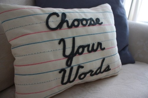 Choose your words.Happy Thoughts, Random Items