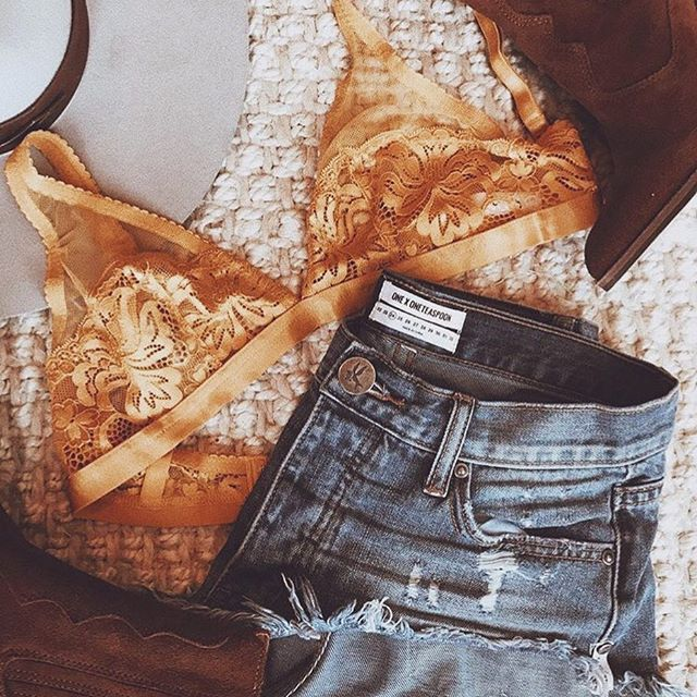 Outfit flatlay styling the LENA soft cup bra from Finding Rosie ✨