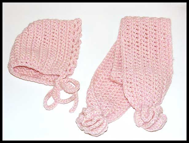 """Warm Winter Pretty Sensation"" hat & scarf, sz 1-2 years, $15"