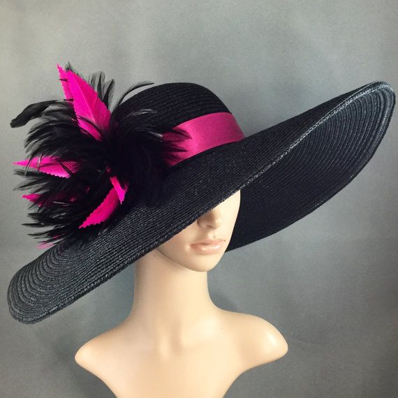 Hand-trimmed Fuchsia Pink Feather Kentucky by theoriginaltree