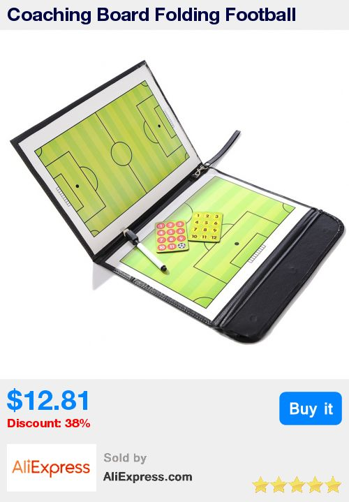 Coaching Board Folding Football Tactic Board Magnetic Soccer Coach Tactical Plate Book Set with Pen Clipboard Football Supplies * Pub Date: 00:09 Apr 6 2017