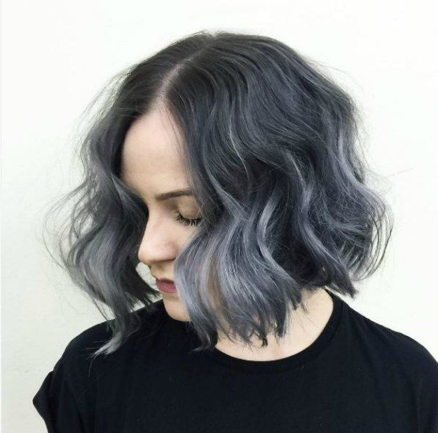 Wavy Gray Ombre Hair | Beautiful Silver Ombre Hairstyles For Short Hair