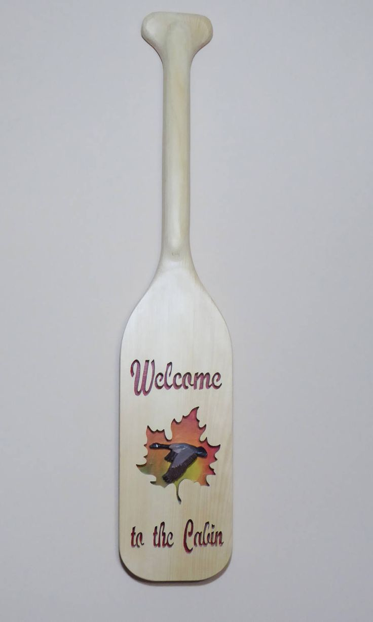 Welcome to the Cabin paddle by UptheCreekPaddles on Etsy
