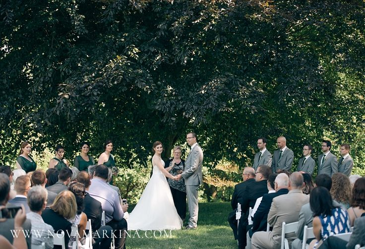 Pledging Their Lives to One Another || Forest Themed Wedding Ceremony Photographs || NovaMarkina Photography || See more of this Windermere Manor Wedding here: http://www.novamarkina.com/blog/windermere-manor-wedding-photography-k-j