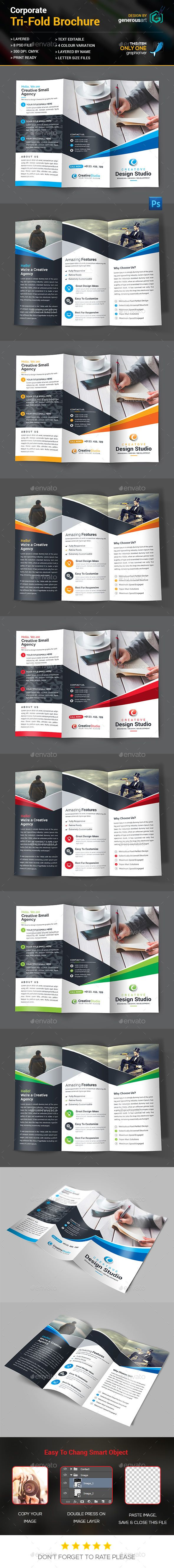 Tri-Fold Brochure Template PSD. Download here: http://graphicriver.net/item/trifold-brochure/14757044?ref=ksioks
