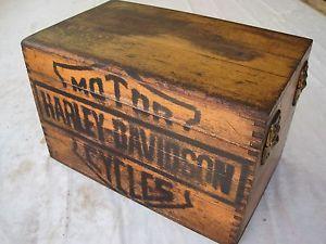 Harley Davidson Wood Box Details About Vintage Harley