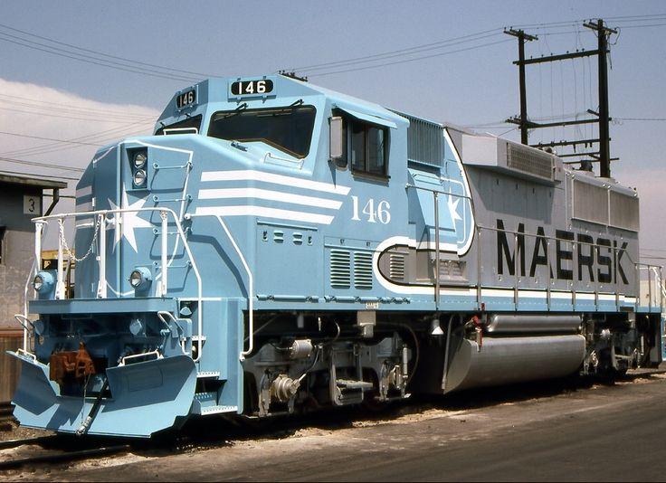 Atchison, Topeka & Santa Fe (ATSF), EMD GP60M diesel locomotive in Los Angeles, California, USA