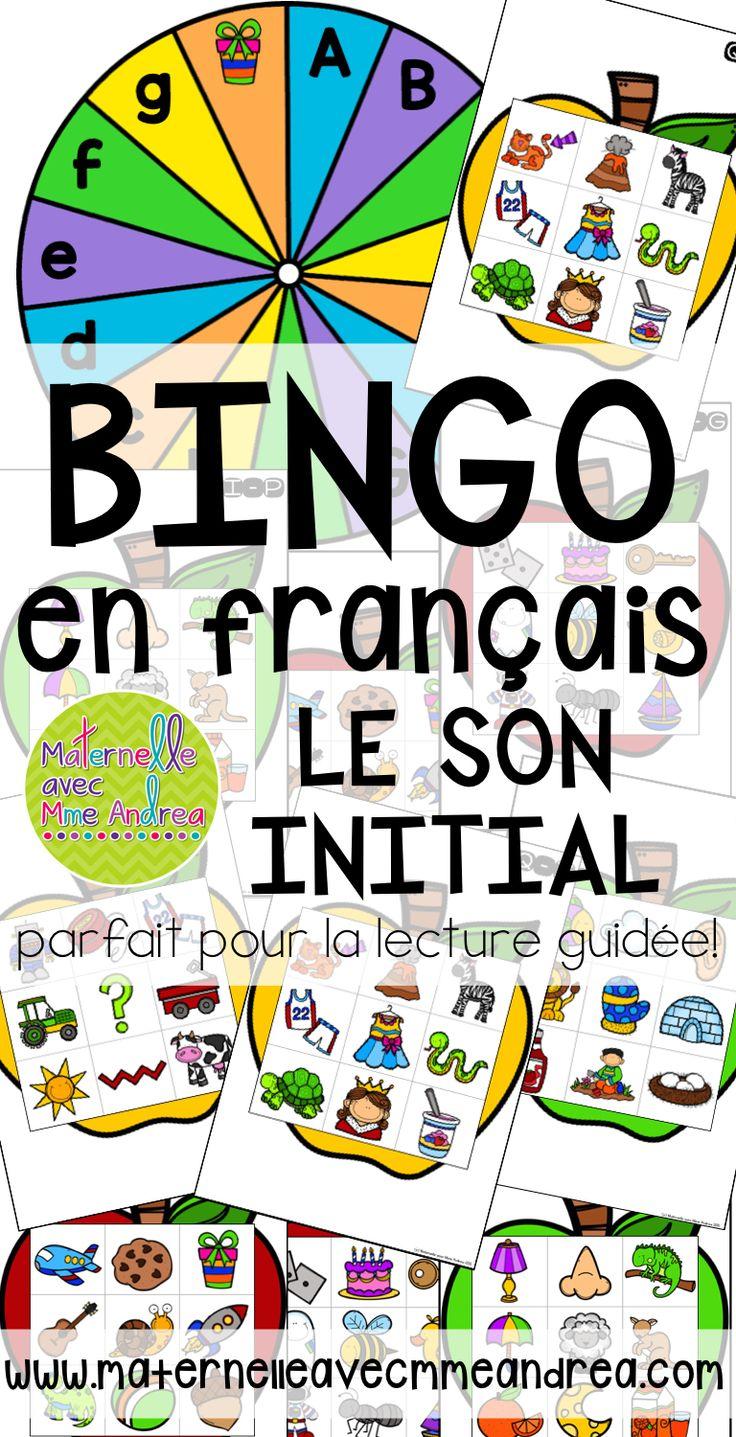 Bingo en français - le son initial | FRENCH beginning sounds bingo