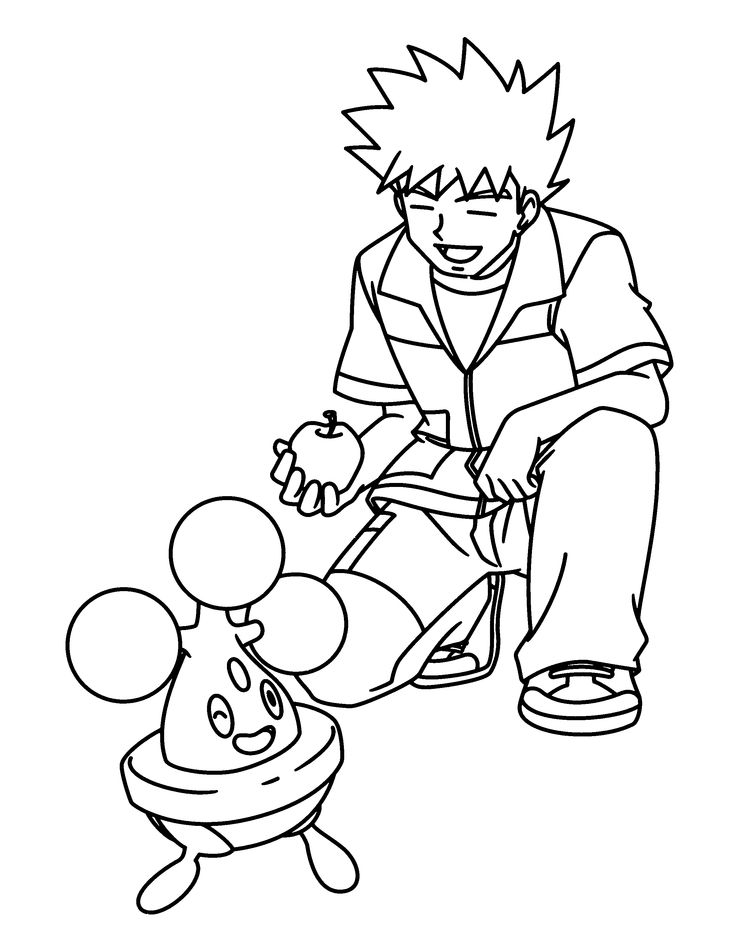 pokemon trainer coloring pages - photo#24