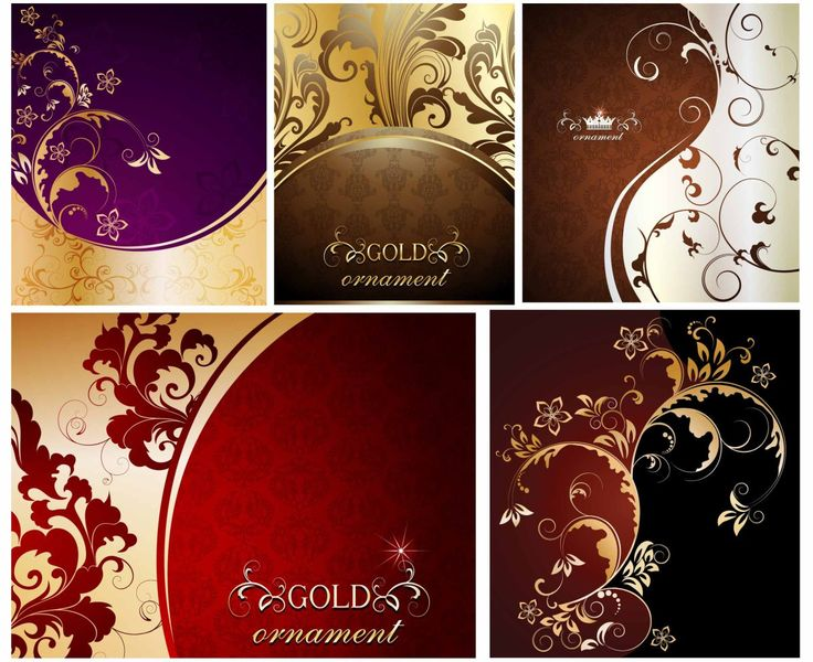 217 best cgspring images on pinterest free vector downloads set of 5 vector floral golden ornaments with swirls and flower patterns for your embellishment of frames backgrounds borders cards invitations stopboris Choice Image