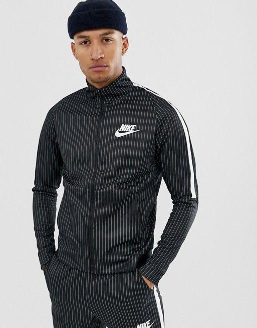 dad90935492e67 Nike Pinstripe Tracksuit In Black