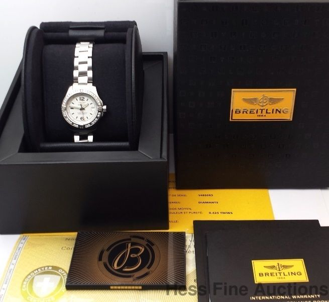 Genuine Breitling Galactic Diamond Bezel 2015 Date Ladies Watch Box Papers & 14 best Fantastic Breitling Watches images on Pinterest ... Aboutintivar.Com