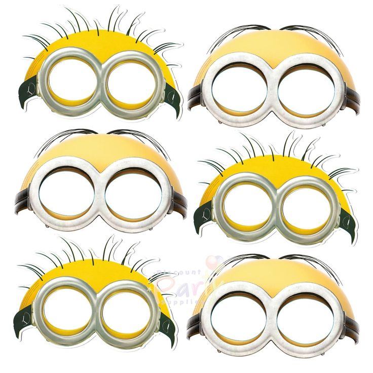 Minions Party Masks (Pack of 6) | Minions Party Supplies - Discount Party Supplies