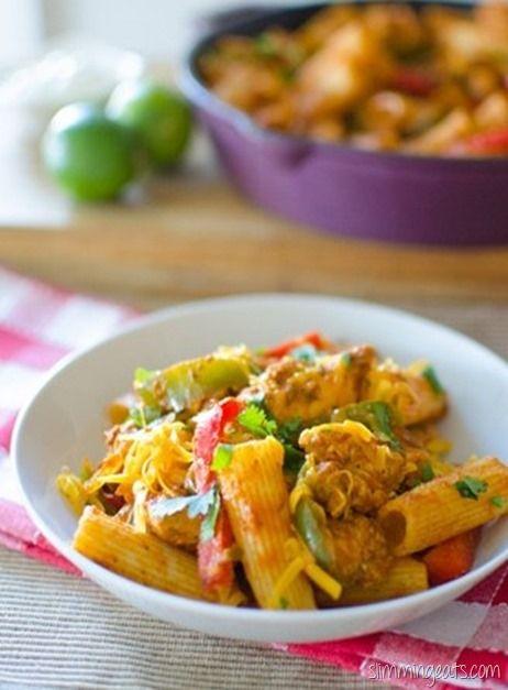 Slimming Eats Fajita Chicken Pasta - gluten free, dairy free, Slimming World and Weight Watchers friendly