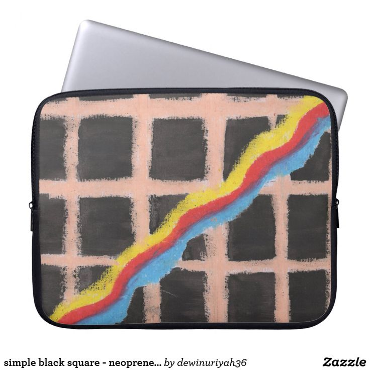 simple black square - neoprene laptop sleeve