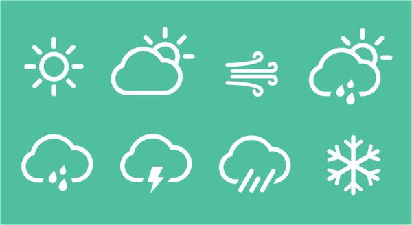 weather icons on Behance