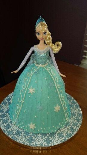 Elsa Doll Cake Design : Best 25+ Frozen doll cake ideas on Pinterest Elsa doll ...