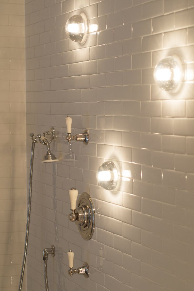 lights in shower and handheld sprayer  Michaelis Boyd Associates — Oxfordshire House