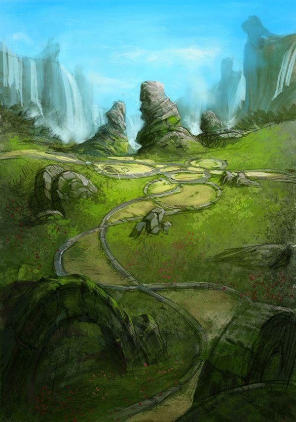 Belle Tera Environnement Concept Art & Character Design