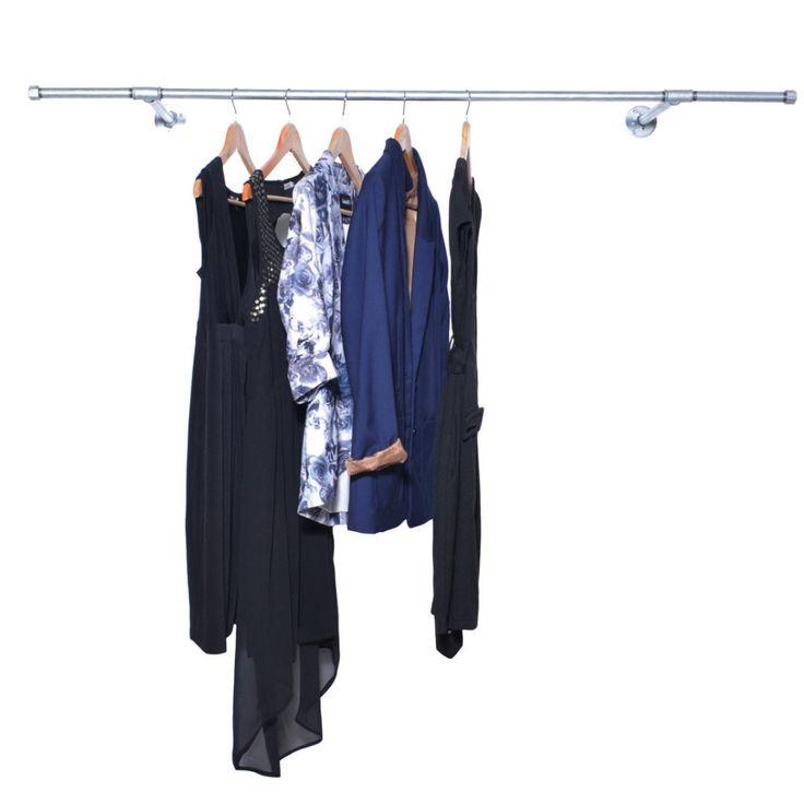 Railhang Squared - et vægophængt tøjstativ i råt look!