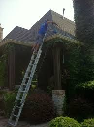 As part of our complete Advantagehandy services process all leaves, sticks, dirt and other debris are removed from your gutters and downspouts. Each downspout is cleaned out, and the leaves and debris are removed. Guards may then be installed on your downspouts to prevent any further buildup and clogging. Gutters that are not kept free from leaves and debris do not drain properly.... http://advantagehandy.com/services.asp