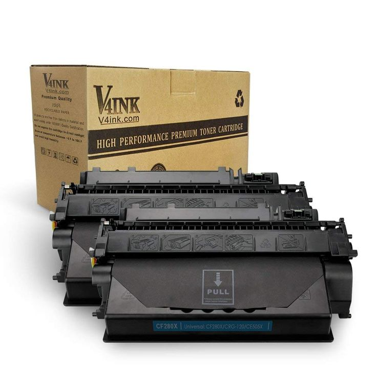 V4ink 2 Pack Compatible Replacement For Hp 80x Cf280x Toner Cartridge For Use In Hp Laserjet Pro 400 M401dne Hp Pro 400 M401n Hp Pro 400 M401dw Hp Pro 400 Mfp