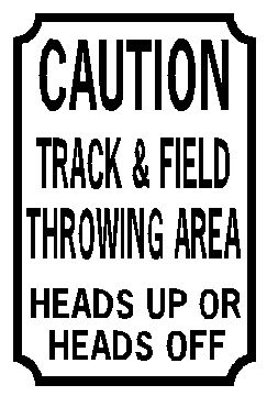 """In practice we'd shout """"ANKLES!"""" every time a discus was rolled back when we threw it"""