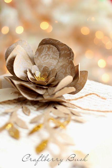 Craftberry Буш: Рождество бумажный цветок Учебник