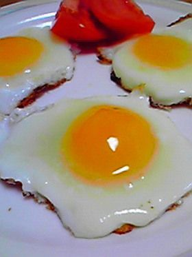 Frozen Egg sunny side up 冷凍卵の目玉焼き
