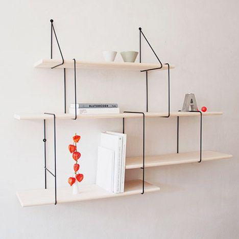 Link Shelf by Studio Hausen  http://www.dezeen.com/2014/09/29/link-shelf-studio-hausen-modular-shelving/