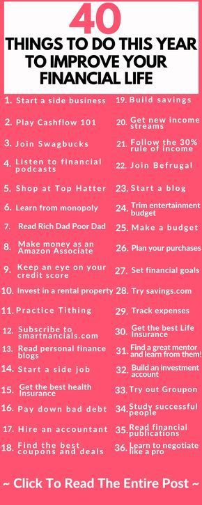 These are some amazing ways to improve your finances this year  Save money  Side hustle  Life insurance  Make a budget  save money  start a side business  These are some tips that can make you help you out a lot!