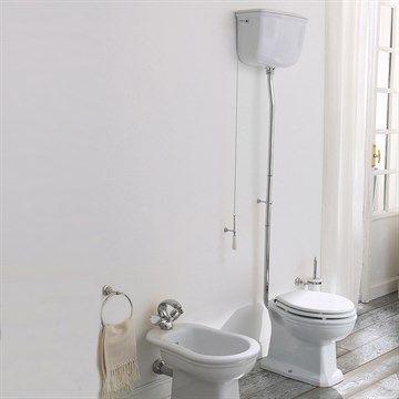 Højt skyl toilet Klassisk stil