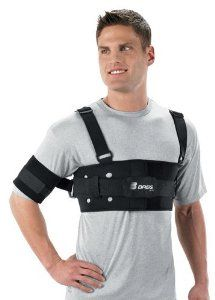 Shoulder Stabilizer | Shoulder Immobilizer Support Brace by Breg Orthofix. $189.99. CHEAPEST - Shoulder StabilizerBREG s. Shoulder Stabilizer is a functional shoulder support designed to limit abduction and external rotation, which makes this brace ideal for football, hockey and lacrosse players. Indications:Shoulder dislocations Shoulder subluxations Global shoulder instabilitiesBREG s Shoulder Stabilizer offers the following benefits:Breathable neoprene harness E...