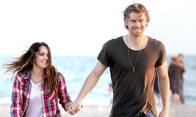 Luke Mitchell and Rebecca Breeds enjoy a day together in California