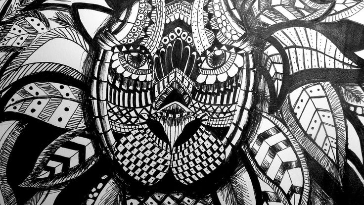 Speed Painting & Drawing: Zentangle lion