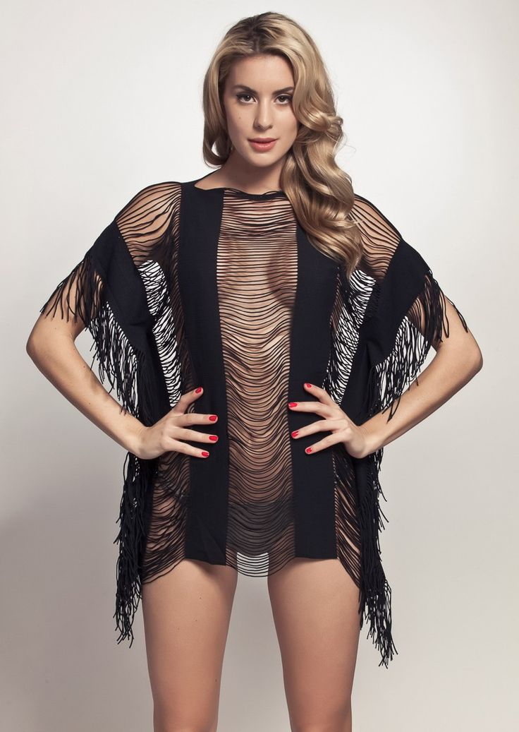 PilyQ Glam Monique Beach Cover-up | Black, Hot Babes Naked