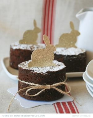 pretty bunny cakes..cute but wish many links would link to recipes..I know mine don't either:)