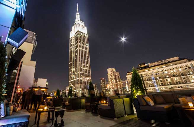 Fodor's named Scandinavian-inspired Monarch Rooftop Lounge in their list of the NYC's 10 Best New Rooftop Bars.