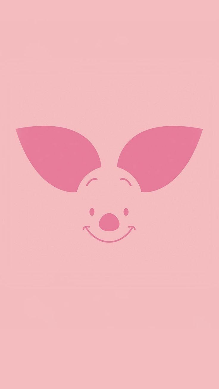 Piglet Minimal Illustration iPhone 6 Wallpaper