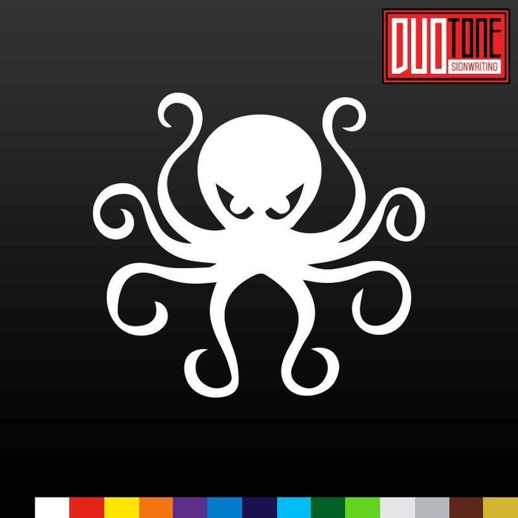 Scary octopus sticker vinyl decal sea bath ocean kids decor car window bumper
