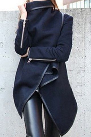 Asymmetric Wool Coat