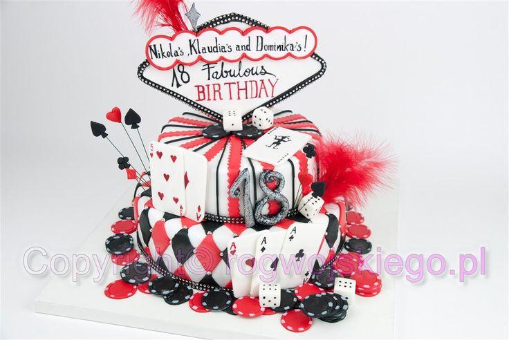 tort casino, tort na 18, pomysł na prezent, tort na osiemnaste urodziny  http://rogwojskiego.pl