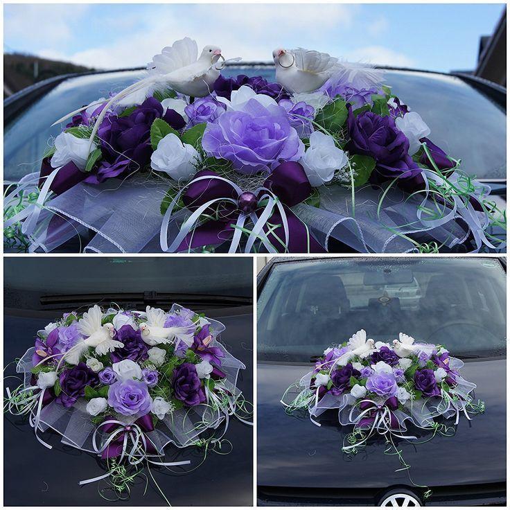 Handarbeit Blumenschmuck für das Auto an Hochzeiten oder ähnlichen Anlässen ….