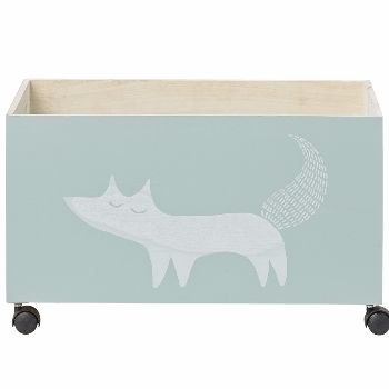 Bloomingville Fox Childrens Storage Box With Wheels: The ideal storage box to store away all those toys, stylish and contemporary with a super cool fox motif it would look great in any playroom or bedroom.